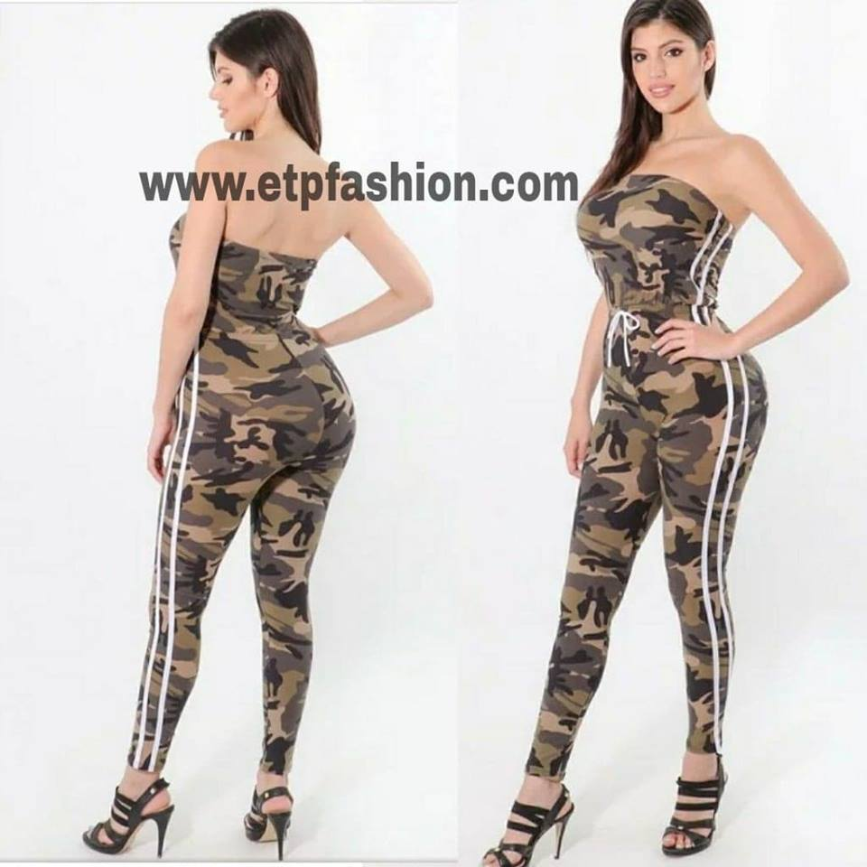 Army Style Jumpsuit For Women Etp Fashion